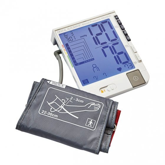 Blutdruckmessgerät mit großem Monitor