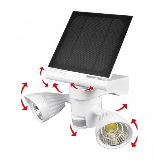 Solar-LED-Doppelstrahler