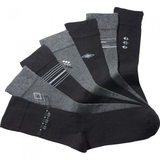Baumwoll-Stretch-Socken 7 Paar 43/46