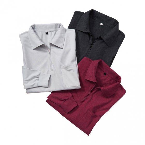 Jersey Langarmshirt 3er-Pack