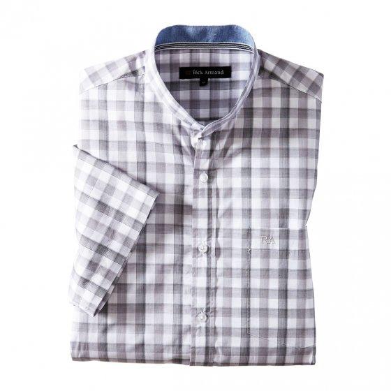 Exklusives Stehkragenhemd