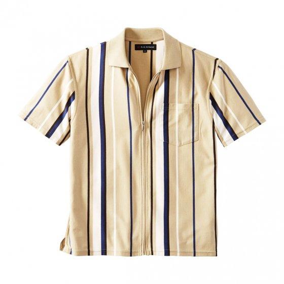 Jersey-Shirt m.Ganzreiß.indigo XXL | Indigo