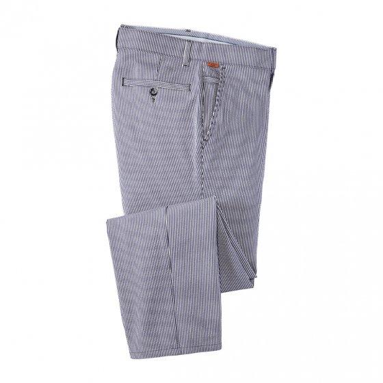 Seersucker Hose, blau 30 | Blau#gestreift