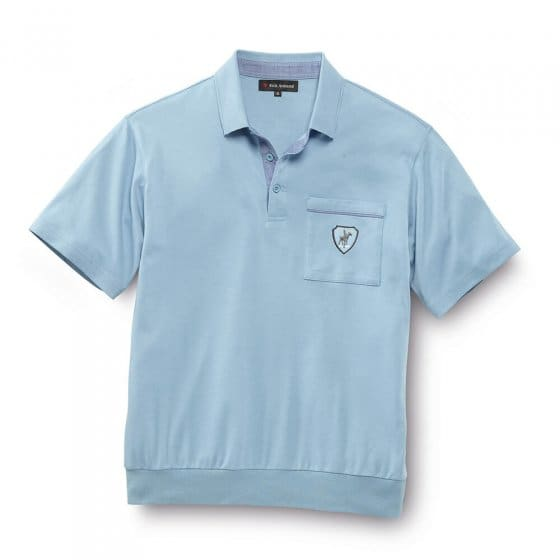Interlock Poloshirt, hellblau L | Hellblau