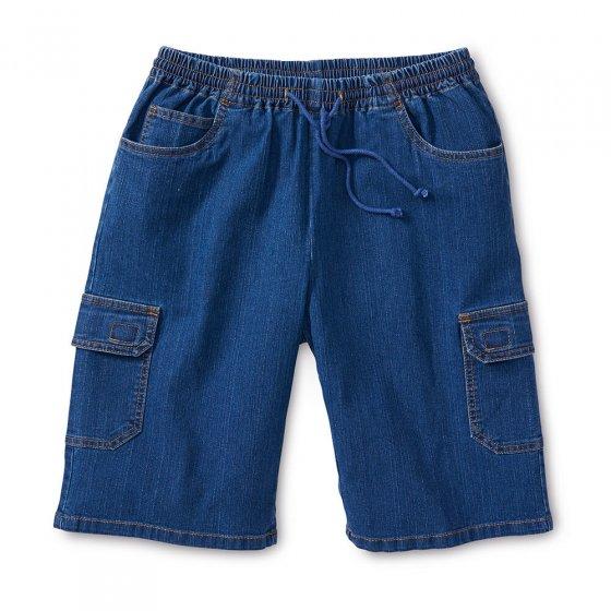 Jeans-Cargo-Bermuda