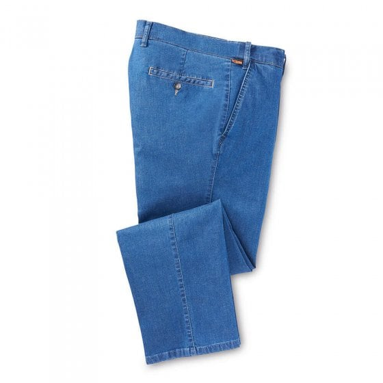 Lei. Stretchbund-Jeans,Blau,58 58 | Jeansblau