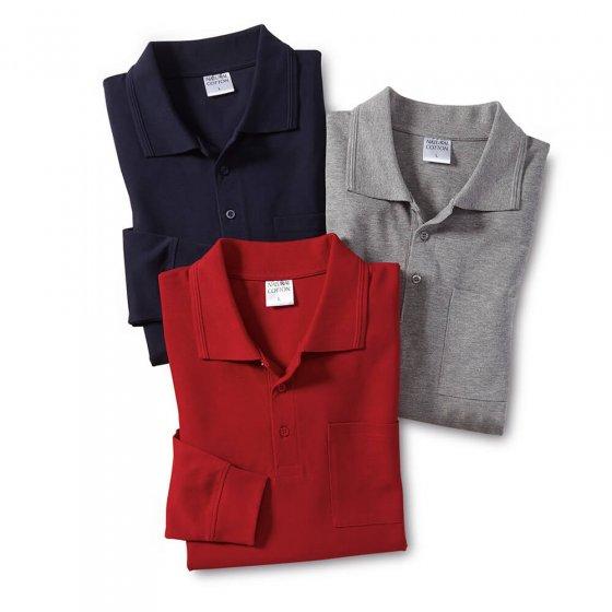 Pique-Poloshirt 3er-Pack