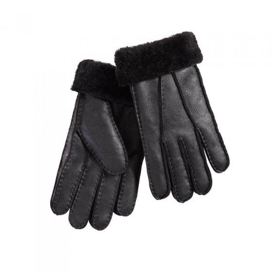 Lammfell-Handschuhe, schwarz M | Schwarz