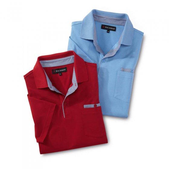 Sportives Poloshirt 2er-Set