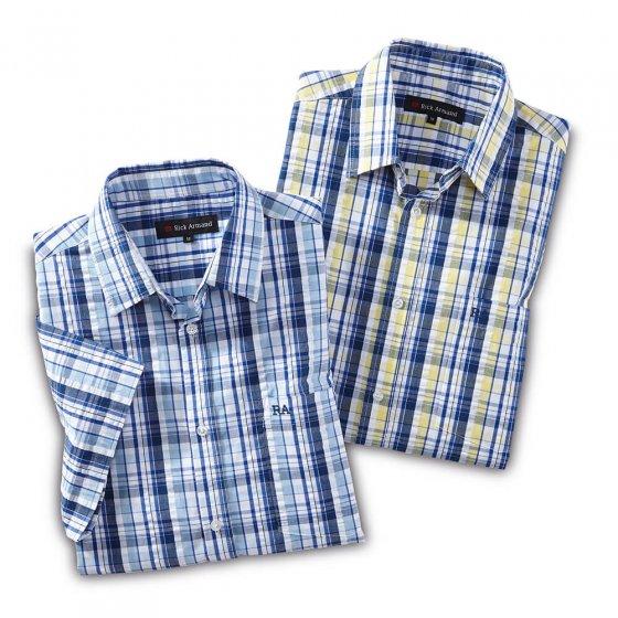 Bügelfreies Seersuckerhemd