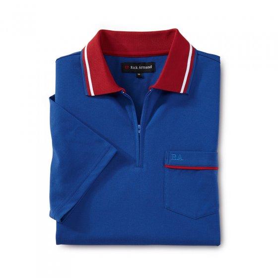 Piqué Shirt mit Zipperkragen