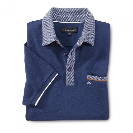Aktuelles Poloshirt,mari.-weiß 3XL | Marine-Weiß