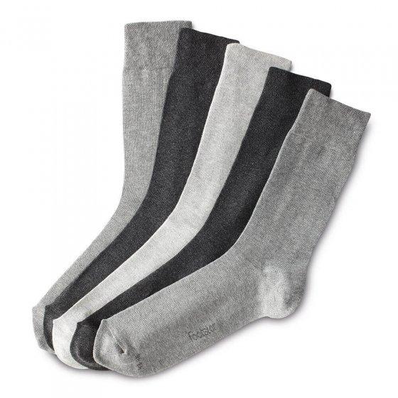 Stretch-Melange-Socken 5er-Pack