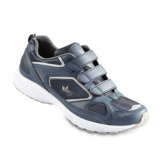 Komfort-Klettslipper,Blau-grau 45 | Blau-Grau