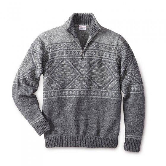 Sportiver Norweger-Pullover
