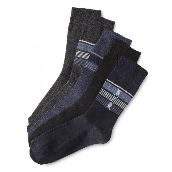 Stretch Komfort Socken 5er-Pack