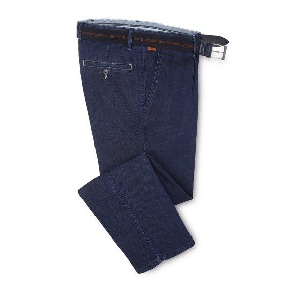 Bequeme Bundfalten-Jeans,schw. 30 | Schwarz