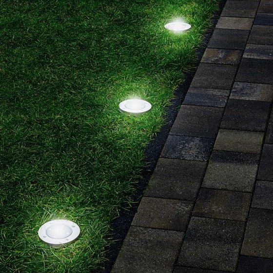 Ultrafllache LED-Bodenleuchten 3er-Set