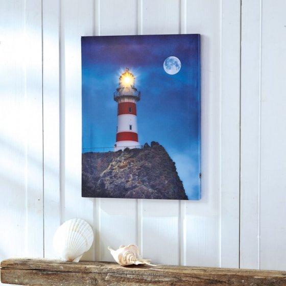 """LED-Wandbild """"Leuchtturm"""""""
