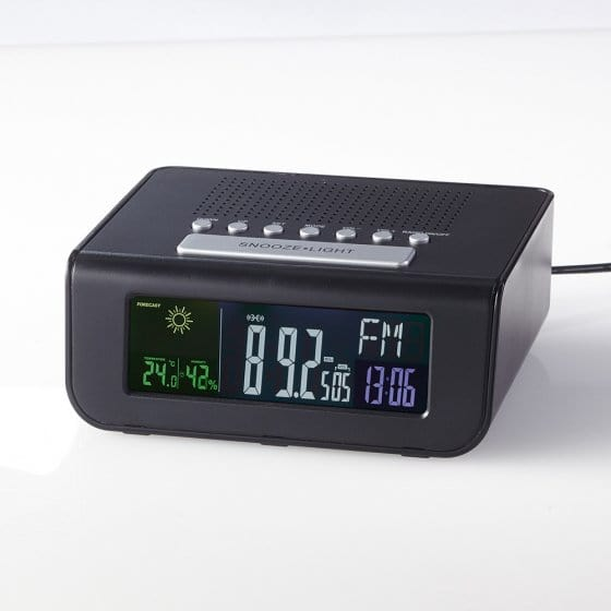 Radiowecker mit Wetterstation