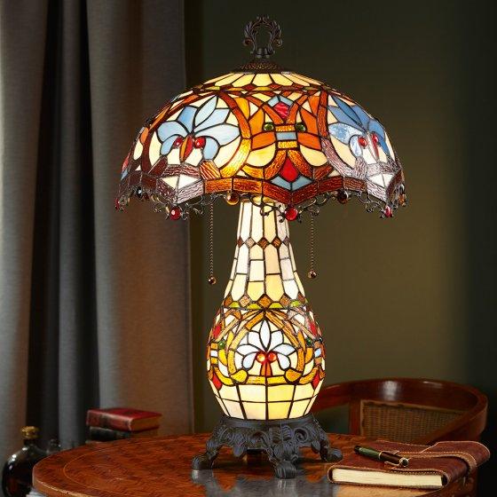 Tischleuchte im Tiffany-Stil