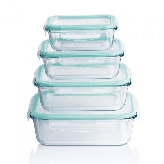 Glas-Frischhalteschüssel-Set