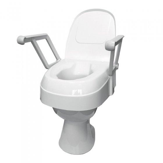 Toilettensitzerhöhung mit Armlehne