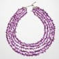 5-reihiges Amethyst-Collier