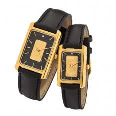Goldbarren-Uhr m.Diamant Herre-2