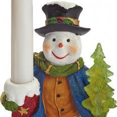 Schneemann mit LED-Kerze-2