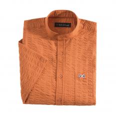 Seersuckerhemd mit Stehkragen-2