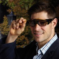 Klappbare Überziehbrille (Nacht)-2
