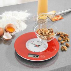 Küchenwaage mit Uhr-2