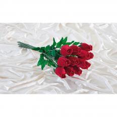 Handgefertigte Rosen aus Gänsefedern 12 Stück-2