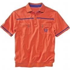 Set:Poloshirt,blau+Ziegel,3XL-2