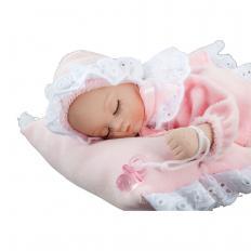 Porzellan-Babypuppe mit Spieluhr-2
