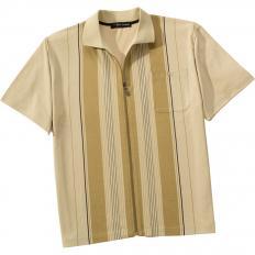 Poloshirt m.Reissver.Beige,XL-2