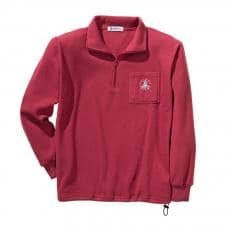 Fleece Sweater m.Stick,rot.XL-2