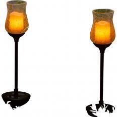 """Solar-Glasleuchten """"Kerzenschein"""" 2er-Set-2"""