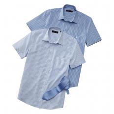 2 Sommerhemden mit Krawatte-2