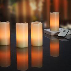 Aufladbare LED-Echtwachskerzen-2