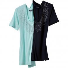 Shirt mit Glitzersteinchen-2