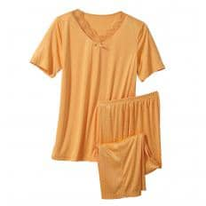 Mikrofaser-Pyjama mit Tupfendessin-2