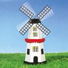Beleuchtete Solar-Windmühle-2