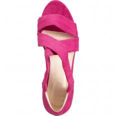 Wildleder-Sandalette mit Keilabsatz-2