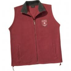Fleece-Weste, Anthrazit + Burgund-2
