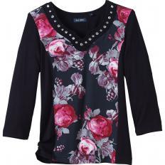 Shirt mit Rosendruck-2