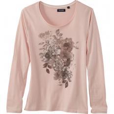 Baumwollshirt mit Rosendruck-2