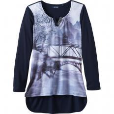 Jersey-Shirt mit Fotoprint-2