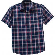 Seersucker-Reißverschlusshemd-2